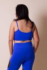 f4e28303e Top Strappy Plus Size Azul