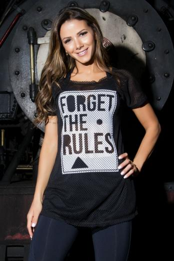 Camiseta Fitness com Silk Forget the Rules